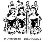 singing sisters   retro clip... | Shutterstock .eps vector #1060706021