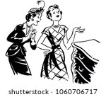 two gals with antique dresser   ... | Shutterstock .eps vector #1060706717