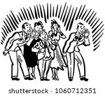 people yelling   retro clip art ... | Shutterstock .eps vector #1060712351