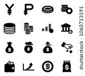 solid vector icon set   yen...