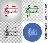 music violin clef sign. g clef... | Shutterstock .eps vector #1060714505
