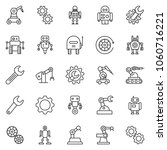 thin line icon set   wrench... | Shutterstock .eps vector #1060716221