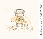vector illustration. coffee cup ... | Shutterstock .eps vector #1060718591