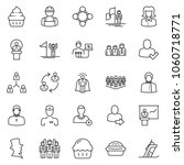 thin line icon set   business...   Shutterstock .eps vector #1060718771
