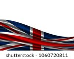 flag of united kingdom isolated ...