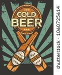 Cold Beer Vintage Retro Signag...