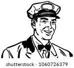 friendly service man 3   retro... | Shutterstock .eps vector #1060726379