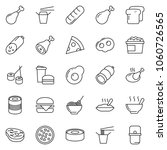 thin line icon set   sausage... | Shutterstock .eps vector #1060726565