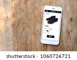 mobile ecommerce website with... | Shutterstock . vector #1060726721