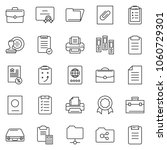 thin line icon set   stamp... | Shutterstock .eps vector #1060729301