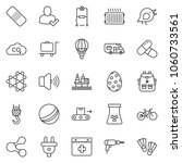 thin line icon set   drill... | Shutterstock .eps vector #1060733561