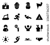 solid vector icon set  ... | Shutterstock .eps vector #1060736207