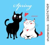 vector in love cats. t shirt... | Shutterstock .eps vector #1060747409