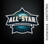 all star sports  template logo...   Shutterstock .eps vector #1060747841