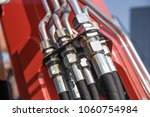hydraulic system  steel tubes... | Shutterstock . vector #1060754984