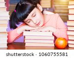 sleeping on school desk kid... | Shutterstock . vector #1060755581