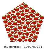 filled pentagon mosaic of...   Shutterstock .eps vector #1060757171