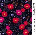 seamless floral pattern.... | Shutterstock .eps vector #1060760177