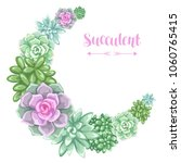 wreath with succulents.... | Shutterstock .eps vector #1060765415