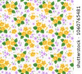 floral seamless pattern with... | Shutterstock .eps vector #1060765481