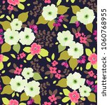 floral seamless pattern with... | Shutterstock .eps vector #1060768955