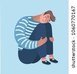 vector cartoon illustration of... | Shutterstock .eps vector #1060770167
