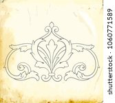 retro baroque decorations...   Shutterstock .eps vector #1060771589