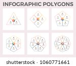 infographic polygons. triangle  ... | Shutterstock .eps vector #1060771661
