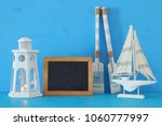 nautical concept with white... | Shutterstock . vector #1060777997
