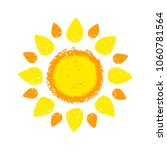 sun hand drawn with oil pastel... | Shutterstock .eps vector #1060781564
