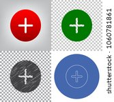 positive symbol plus sign.... | Shutterstock .eps vector #1060781861