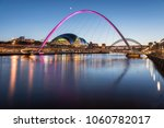 the beauty of millennium bridge ... | Shutterstock . vector #1060782017