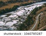 spring ice drift on the katun...   Shutterstock . vector #1060785287