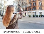 young woman visiting... | Shutterstock . vector #1060787261
