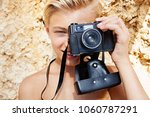 portrait of young man on beach...   Shutterstock . vector #1060787291