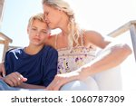 portrait of mother and son...   Shutterstock . vector #1060787309