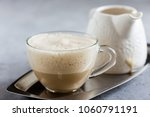 Coffee steamed with cream, Raf coffee, delicious Russian most popular drinks
