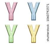 assorted pastel color wooden... | Shutterstock . vector #1060792571