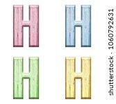 assorted pastel color wooden... | Shutterstock . vector #1060792631