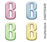 assorted pastel color wooden... | Shutterstock . vector #1060792649