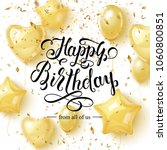happy birthday background with... | Shutterstock .eps vector #1060800851