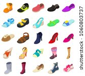shoes fashion types icons set.... | Shutterstock .eps vector #1060803737