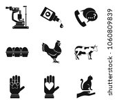 ill animal icons set. simple...   Shutterstock .eps vector #1060809839