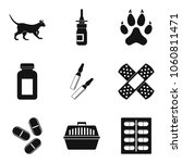vet icons set. simple set of 9... | Shutterstock .eps vector #1060811471