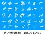 reptile icon set. simple set of ... | Shutterstock .eps vector #1060811489