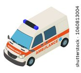 fast ambulance icon. isometric... | Shutterstock .eps vector #1060813004