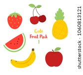 cute fruit pack containing an... | Shutterstock .eps vector #1060813121