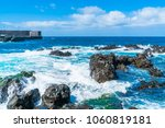 view of sea front in puerto de... | Shutterstock . vector #1060819181