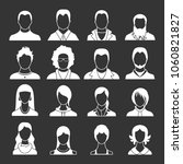 avatars set vector white... | Shutterstock .eps vector #1060821827