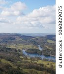 Small photo of Lakeside, on Lake Windermere, and the river Leven taken from Gummer's How in the Lake District, Cumbria, England